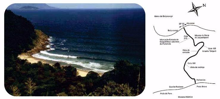 trilha praia brava